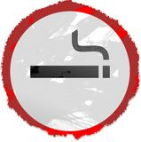 Grunge smoking sign Stock Images