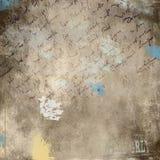 Grunge smutsig vägg med grafitti Arkivbilder