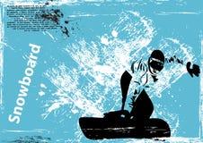 Grunge snowboard background Royalty Free Stock Photo