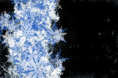 Grunge Snowflake Background Royalty Free Stock Image