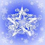 grunge snowflakes αστέρι Στοκ Εικόνα