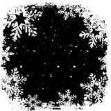 Grunge snowflakes Royalty Free Stock Photo