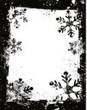 Grunge snowflakes Stock Photo