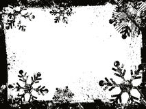 Grunge snowflakes royalty free illustration