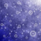 Grunge snowflakes Royalty Free Stock Photography