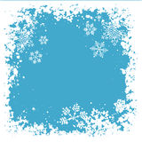 Grunge snowflakes Royalty Free Stock Images