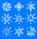 Grunge snowflakes Royalty Free Stock Photo