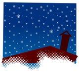 Grunge snowflakes background Stock Photo