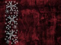Grunge snowflakes background. Red grunge background with fractal snowflakes vector illustration