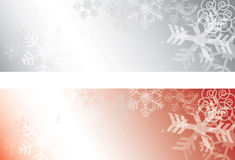 Grunge Snowflakes background banners Royalty Free Stock Image