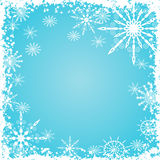 Grunge snowflakes background, vector Stock Images