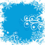 Grunge snowflakes background, vector Royalty Free Stock Image