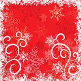 Grunge snowflakes background, vector Royalty Free Stock Photos