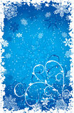 Grunge snowflakes background, vector Royalty Free Stock Images