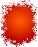 Grunge snowflakes frame stock photo
