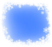 Grunge snowflakes frame royalty free illustration