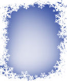 Grunge snowflakes frame Royalty Free Stock Photos