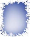 Grunge Snowflakes Frame Royalty Free Stock Photos