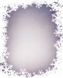 Grunge snowflakes frame Royalty Free Stock Photography