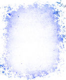 Grunge snowflakes frame Royalty Free Stock Images