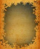 Grunge snowflakes frame Stock Image