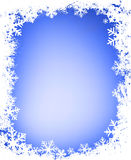 Grunge snowflakes frame Royalty Free Stock Image