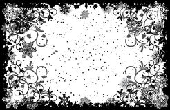 Grunge snowflakes frame, vector Stock Photography