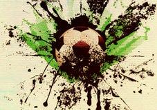 Grunge Soccer Stock Image