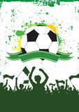 Grunge Soccer Background 1. Silhouette of an excited soccer fans on a grunge style background Royalty Free Stock Image