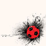 Grunge soccer background Stock Photo