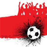 Grunge soccer background Royalty Free Stock Photography
