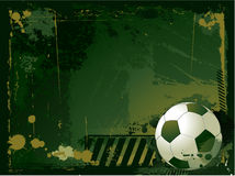 Grunge soccer background Royalty Free Stock Photos