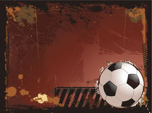 Grunge soccer background illustration Stock Photo