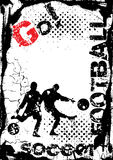Grunge soccer background Stock Photos