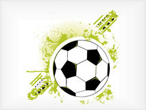 Grunge Soccer Ball Stock Image