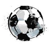 Grunge soccer ball. Vector black grunge soccer ball on white Royalty Free Stock Images