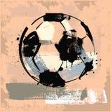 Grunge soccer ball. Vector black grunge soccer ball on background Stock Photos