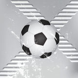 Grunge soccer ball background Stock Photos