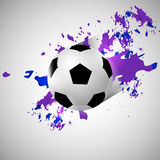 Grunge soccer ball background Royalty Free Stock Image