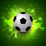Grunge soccer ball background Stock Image