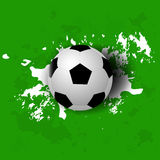 Grunge soccer ball background Royalty Free Stock Photo