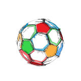 Grunge soccer ball Stock Photography