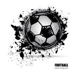 Grunge soccer ball Royalty Free Stock Photos