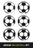 Grunge soccer ball set Royalty Free Stock Photo