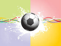 Grunge soccer with colorful stripes Royalty Free Stock Photography