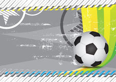 Grunge soccer design background Royalty Free Stock Photography