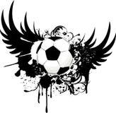 Grunge soccer emblem Royalty Free Stock Image