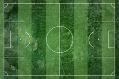 Grunge soccer field Stock Photos