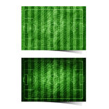 Grunge soccer ( football ) field recycled paper Stock Photo
