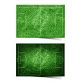 Grunge soccer ( football ) field recycled paper Royalty Free Stock Photo
